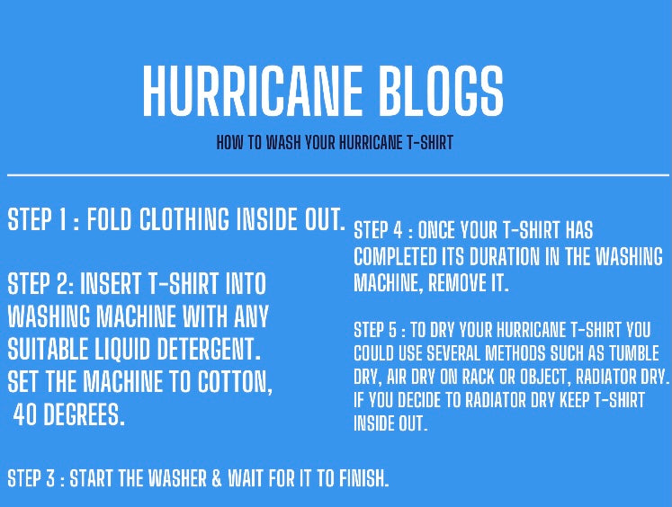How to wash your Hurricane T-Shirt ?