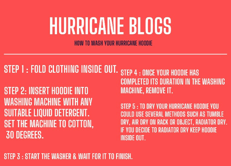 How to wash your Hurricane Hoodie