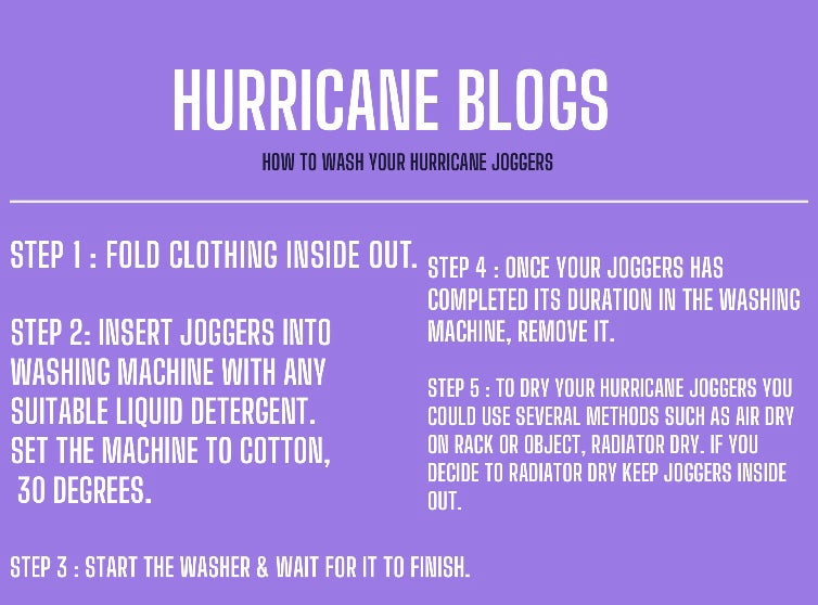 How to wash your Hurricane joggers