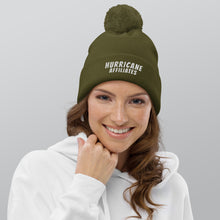 Load image into Gallery viewer, Hurricane Affiliates Pom pom beanie