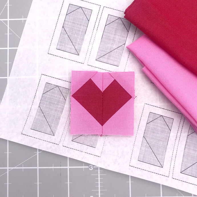 Foundation Paper Piecing Tutorial for the  Love Improv Coin Purse