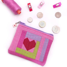 Load image into Gallery viewer, Love Improv Coin Purse PDF Pattern