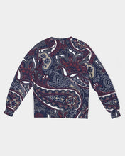 Load image into Gallery viewer, Paisley Beauty Men's Classic French Terry Crewneck Pullover