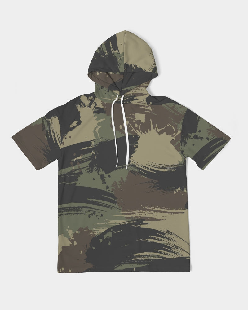 Paintbrush Camouflage Men's Premium Heavyweight Short Sleeve Hoodie
