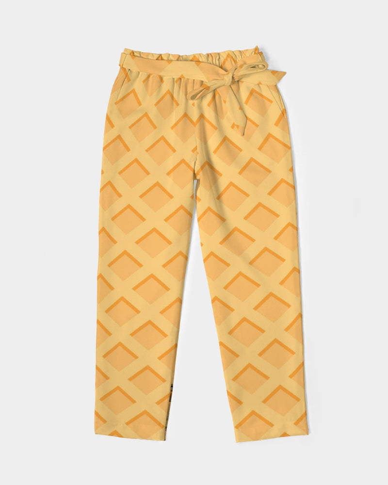 Waffles Women's Belted Tapered Pants