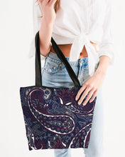 Load image into Gallery viewer, Paisley Beauty Canvas Zip Tote