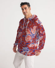 Load image into Gallery viewer, Red Watercolor Paisley Men's Hoodie