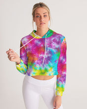 Load image into Gallery viewer, Tie-Dye Women's Cropped Hoodie