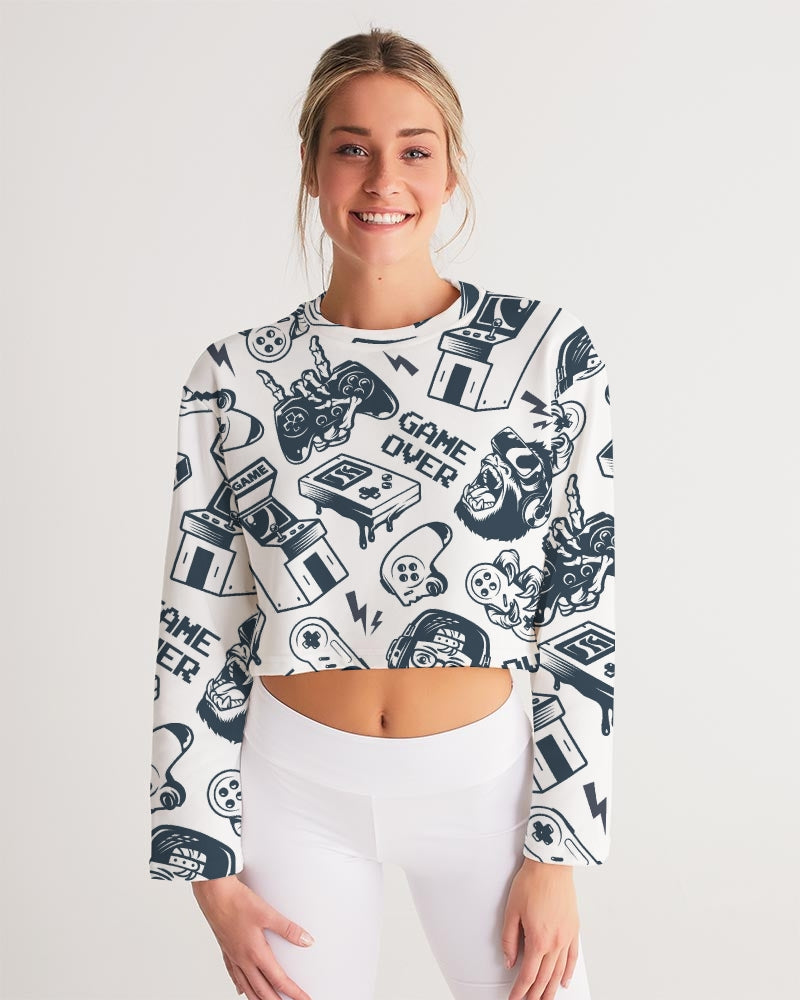 Game Over Women's Cropped Sweatshirt