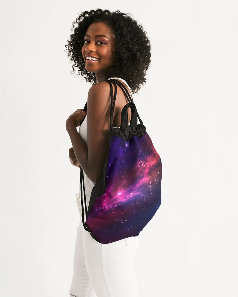 Deep Space Canvas Drawstring Bag