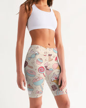 Load image into Gallery viewer, Sweet Tooth Women's Mid-Rise Bike Shorts