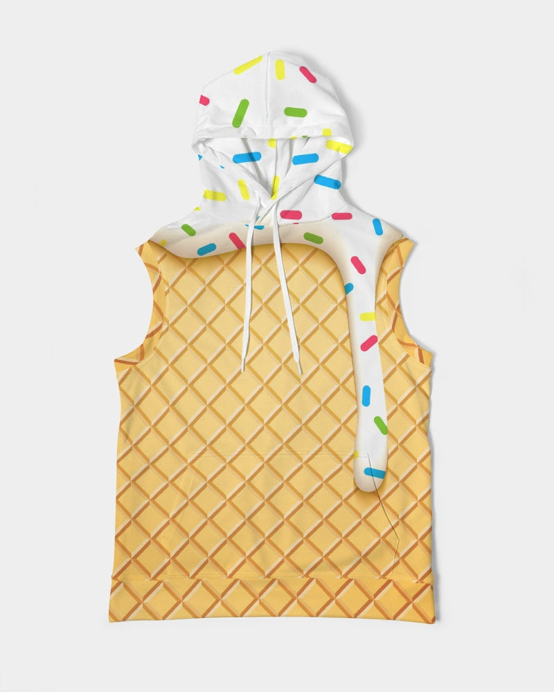 Ice cream cone Men's Premium Heavyweight Sleeveless Hoodie