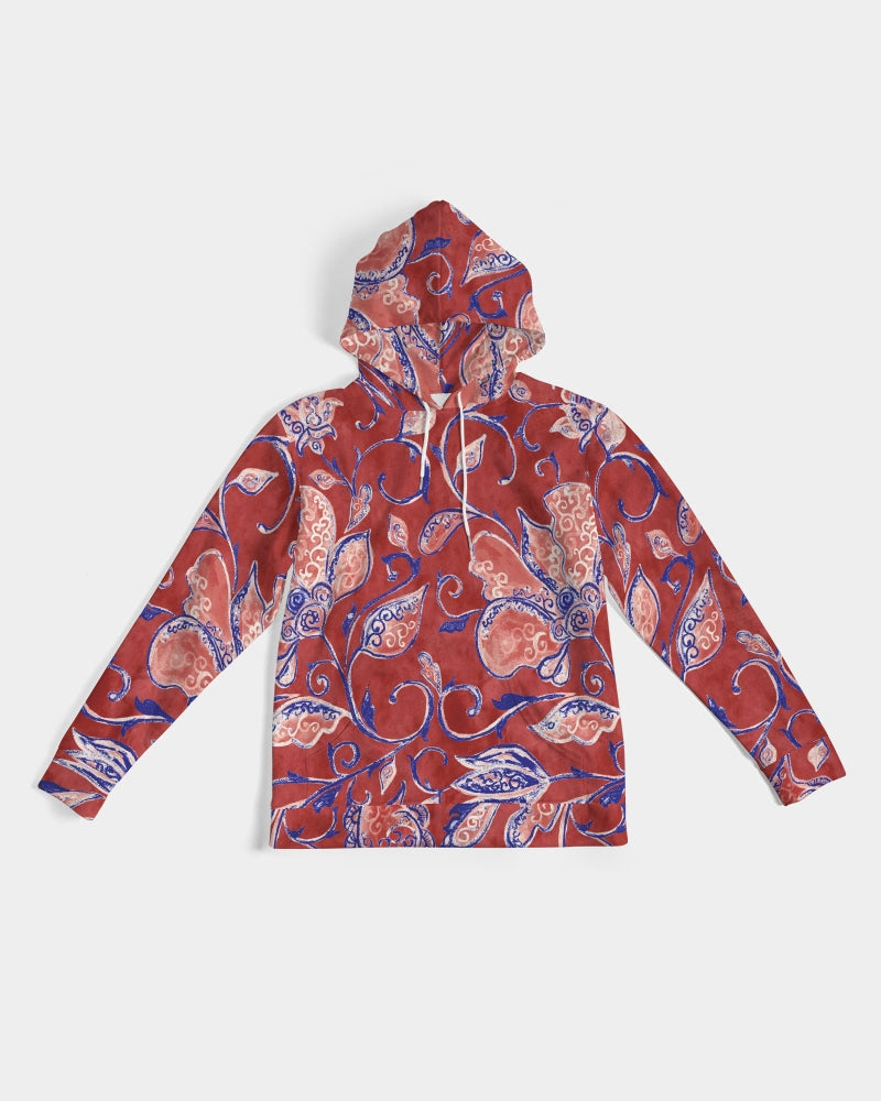 Red Watercolor Paisley Men's Hoodie