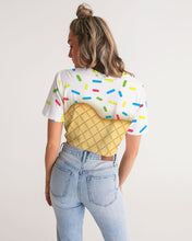 Load image into Gallery viewer, Ice cream cone Women's Twist-Front Cropped Tee