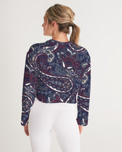 Load image into Gallery viewer, Paisley Beauty Women's Cropped Sweatshirt
