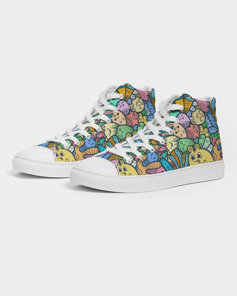Weird Cuteness Women's High Top Canvas Shoe