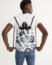 Load image into Gallery viewer, Game Over Canvas Drawstring Bag