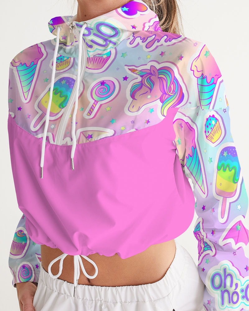 Oh No! Women's Cropped Windbreaker