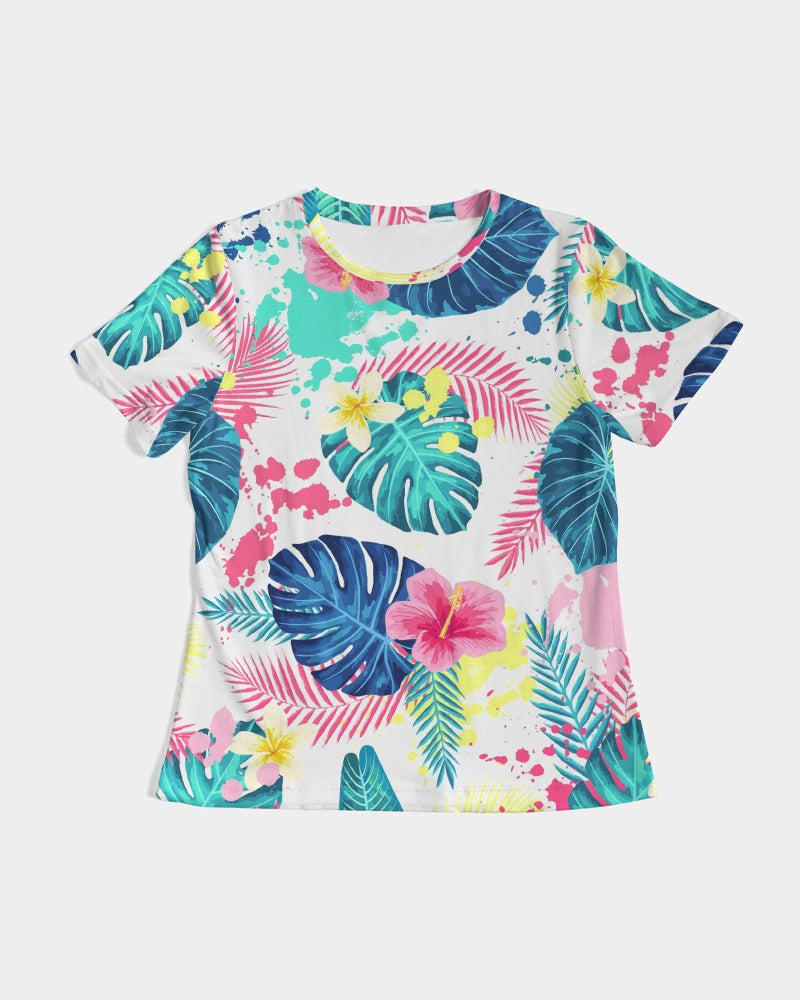 Abstract Palm Leaves Women's Tee