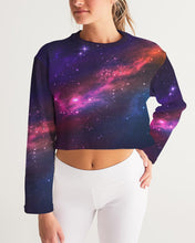 Load image into Gallery viewer, Deep Space Women's Cropped Sweatshirt