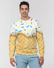 Load image into Gallery viewer, Ice cream cone Men's Classic French Terry Crewneck Pullover