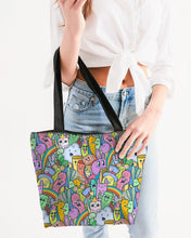 Load image into Gallery viewer, Cuteness Canvas Zip Tote