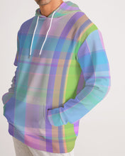 Load image into Gallery viewer, Pastel Plaid Men's Hoodie