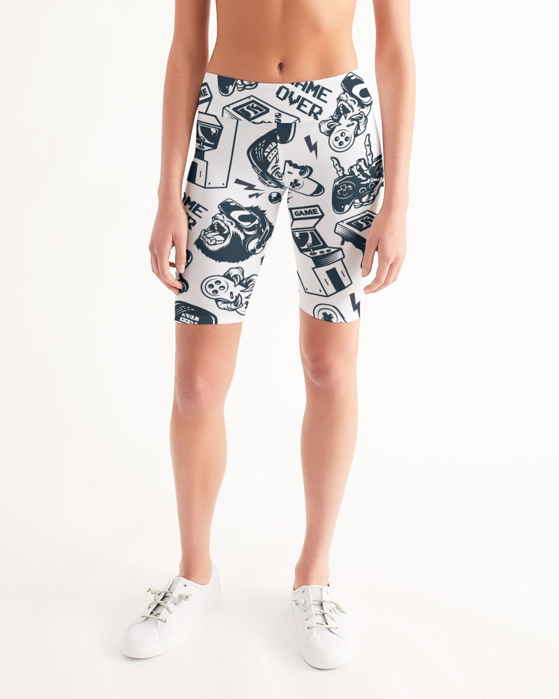 Game Over Women's Mid-Rise Bike Shorts