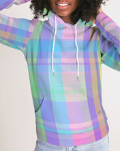 Load image into Gallery viewer, Pastel Plaid Women's Hoodie