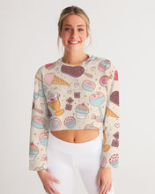 Load image into Gallery viewer, Sweet tooth Women's Cropped Sweatshirt