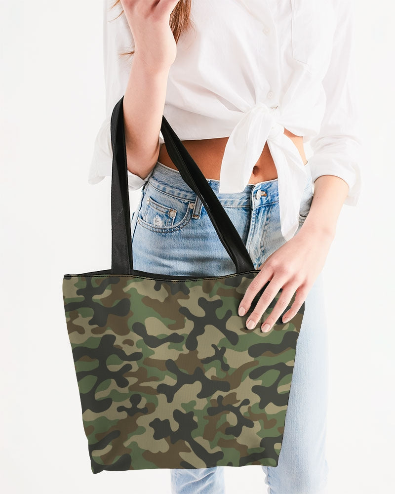 Camouflage Canvas Zip Tote