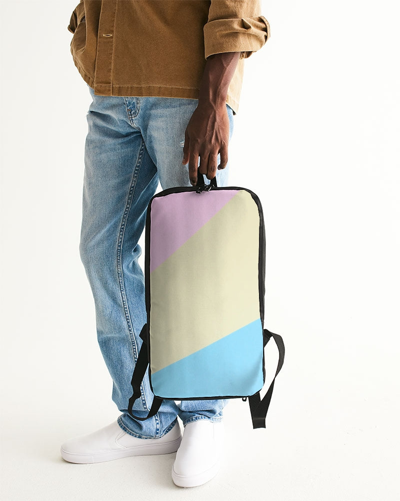 Pink, Blue, & Cream Color Block Slim Tech Backpack