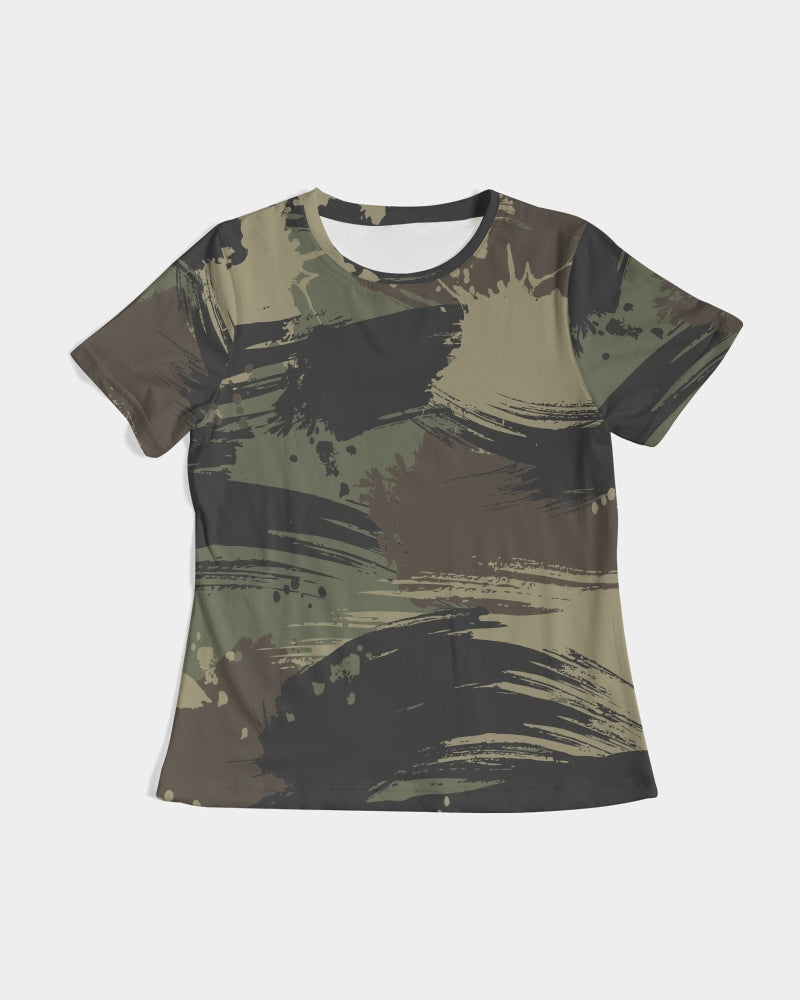 Paintbrush Camouflage Women's Tee