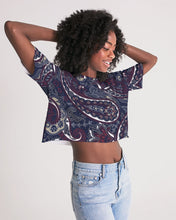 Load image into Gallery viewer, Paisley Beauty Women's Lounge Cropped Tee
