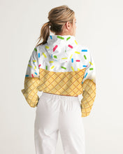 Load image into Gallery viewer, Ice cream cone Women's Cropped Windbreaker