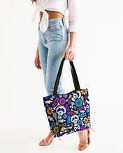 Load image into Gallery viewer, Day Of The Dead Festival Canvas Zip Tote