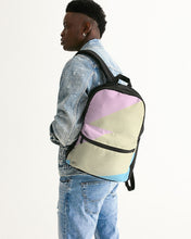 Load image into Gallery viewer, Pink, Blue, & Cream Color Block Small Canvas Backpack