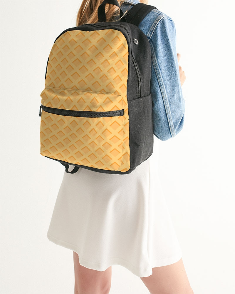 Waffles Small Canvas Backpack