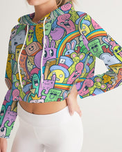 Load image into Gallery viewer, Cuteness Women's Cropped Hoodie