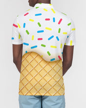 Load image into Gallery viewer, Ice cream cone Men's Slim Fit Short Sleeve Polo