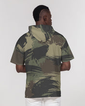 Load image into Gallery viewer, Paintbrush Camouflage Men's Premium Heavyweight Short Sleeve Hoodie