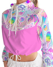 Load image into Gallery viewer, Oh No! Women's Cropped Windbreaker