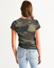 Load image into Gallery viewer, Paintbrush Camouflage Women's Tee