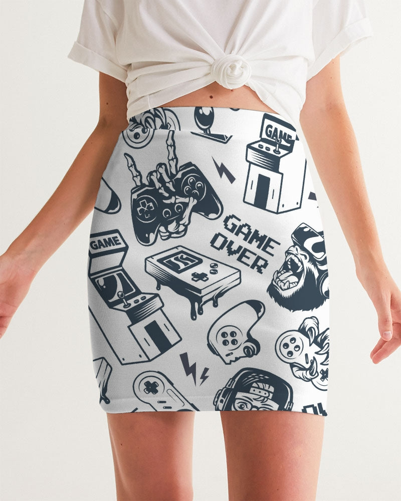 Game Over Women's Mini Skirt