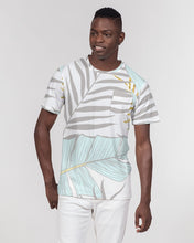 Load image into Gallery viewer, Banana And Golden Palm Leaves Men's Everyday Pocket Tee