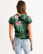 Load image into Gallery viewer, Summer Palm Leaves And Flowers Women's Tee