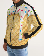 Load image into Gallery viewer, Ice cream cone Men's Stripe-Sleeve Track Jacket