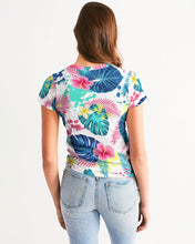 Load image into Gallery viewer, Abstract Palm Leaves Women's Tee