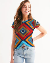 Load image into Gallery viewer, Tribal Patchwork Women's Tee
