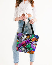Load image into Gallery viewer, Spooky Graffiti Canvas Zip Tote